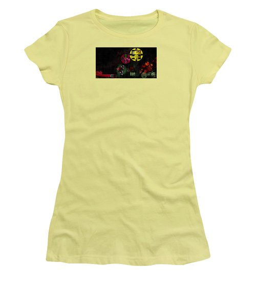 Abstract Painting - Metallic Gold Women's T-Shirt (Athletic Fit)