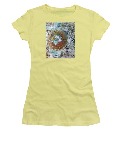 Abstract Paintng Women's T-Shirt (Athletic Fit)