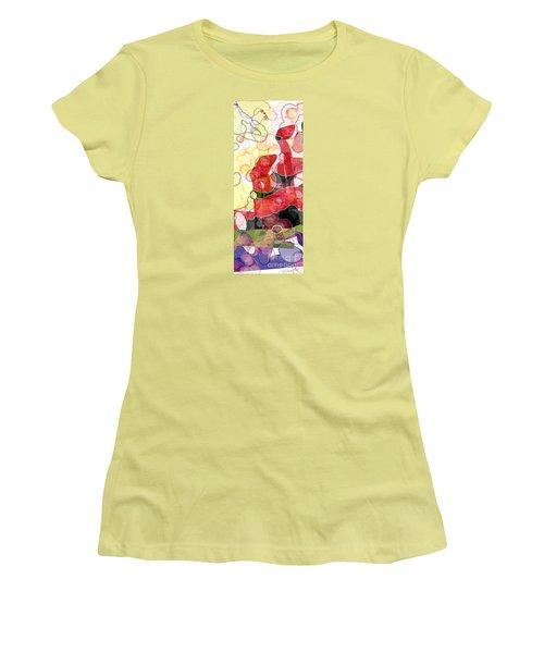 Women's T-Shirt (Junior Cut) featuring the digital art Abstract Submarine by Gabrielle Schertz