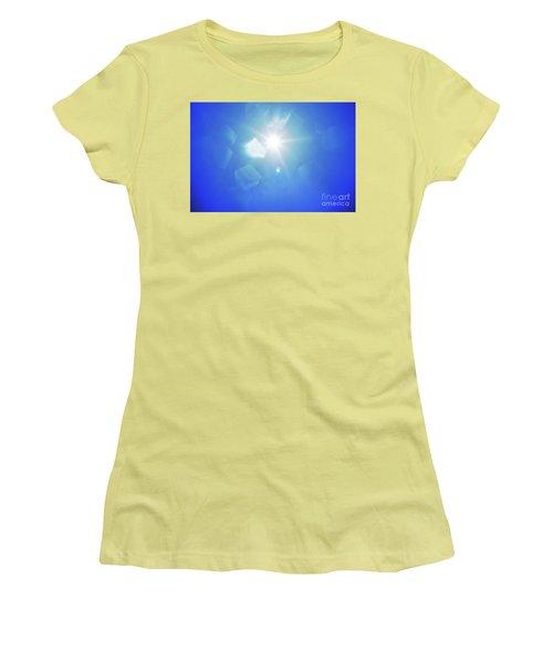 Women's T-Shirt (Junior Cut) featuring the photograph Abstract Sunlight by Atiketta Sangasaeng