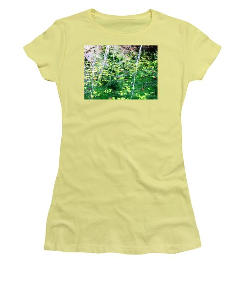 Women's T-Shirt (Junior Cut) featuring the photograph Abstract Water by Melissa Stoudt