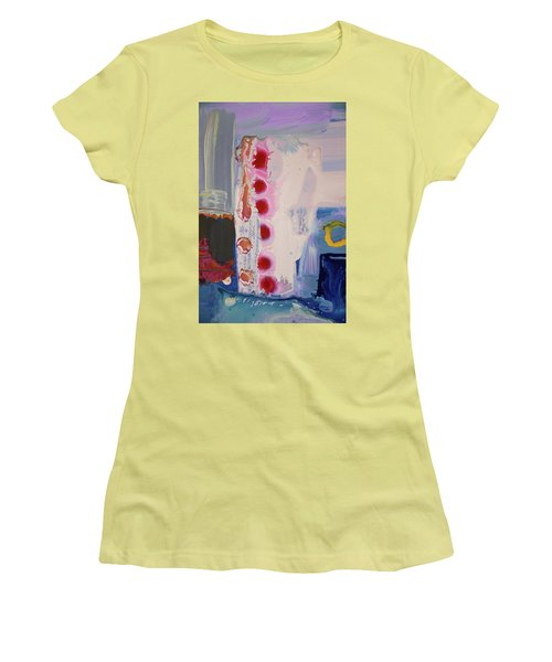 abstraction, fire in the Chakras Women's T-Shirt (Junior Cut) by Amara Dacer