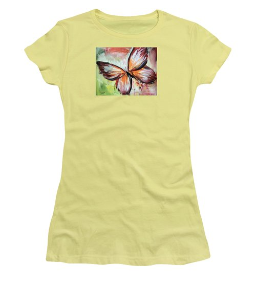 Acrylic Butterfly Women's T-Shirt (Junior Cut) by Tom Riggs