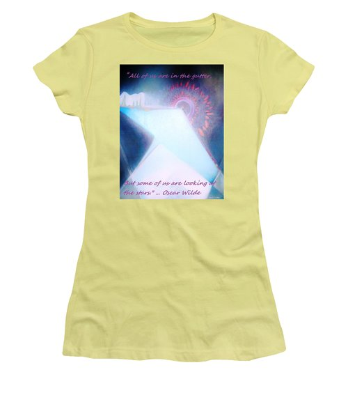 Women's T-Shirt (Junior Cut) featuring the painting Act Of Creation by Denise Fulmer