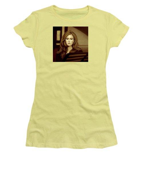 Adele Gold Women's T-Shirt (Junior Cut) by Paul Meijering