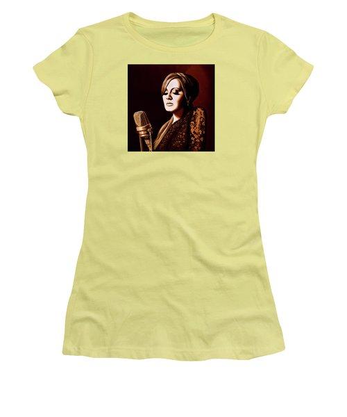 Adele Skyfall Gold Women's T-Shirt (Junior Cut) by Paul Meijering