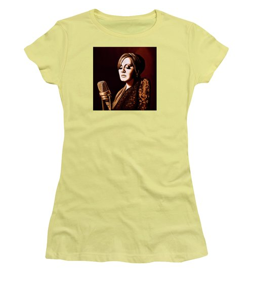 Adele Skyfall Gold Women's T-Shirt (Athletic Fit)