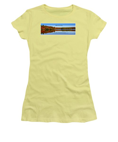 Adirondack October Generosity Women's T-Shirt (Junior Cut) by Diane E Berry