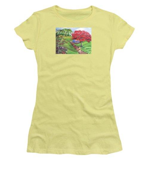 Admirando El Campo Women's T-Shirt (Junior Cut) by Luis F Rodriguez