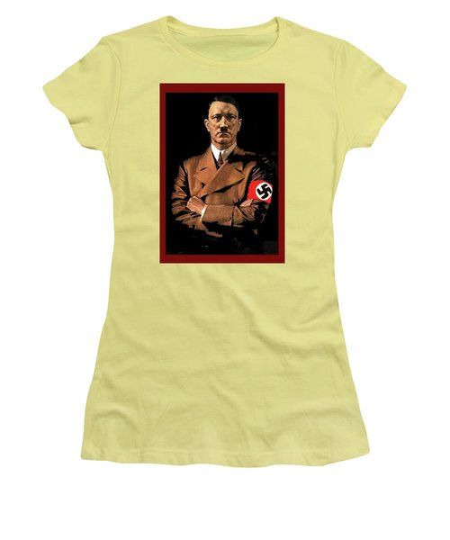 Adolf Hitler Painting Circa  1940 Color Added 2016 Women's T-Shirt (Athletic Fit)