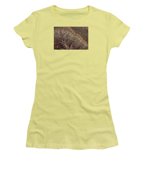 Aerial View Of Rock Formation Women's T-Shirt (Junior Cut) by Ivete Basso Photography