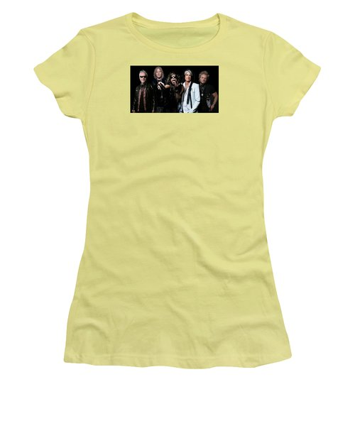 Women's T-Shirt (Junior Cut) featuring the photograph Aerosmith by Sean