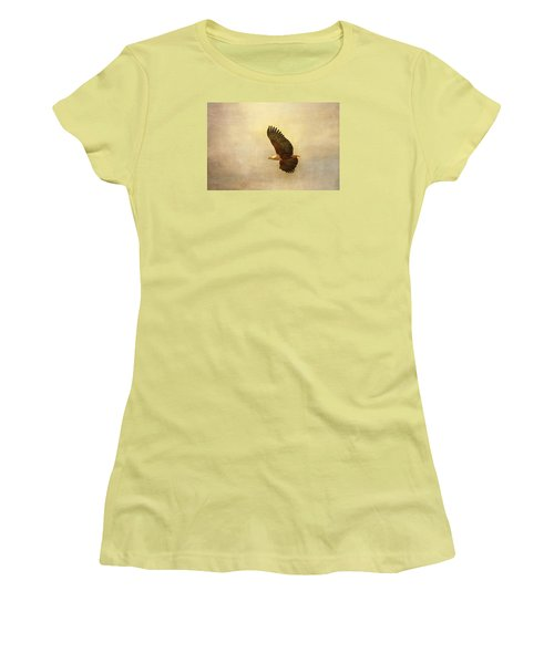 Women's T-Shirt (Junior Cut) featuring the tapestry - textile African Fish Eagle by Kathy Adams Clark