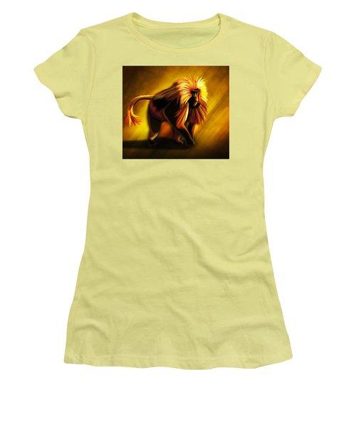 African Gelada Monkey Women's T-Shirt (Junior Cut) by John Wills