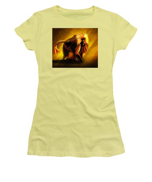 African Gelada Monkey Women's T-Shirt (Athletic Fit)