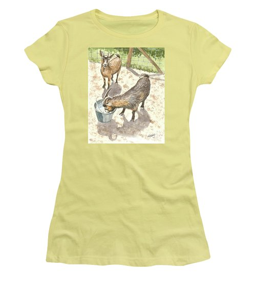 African Goats Women's T-Shirt (Athletic Fit)
