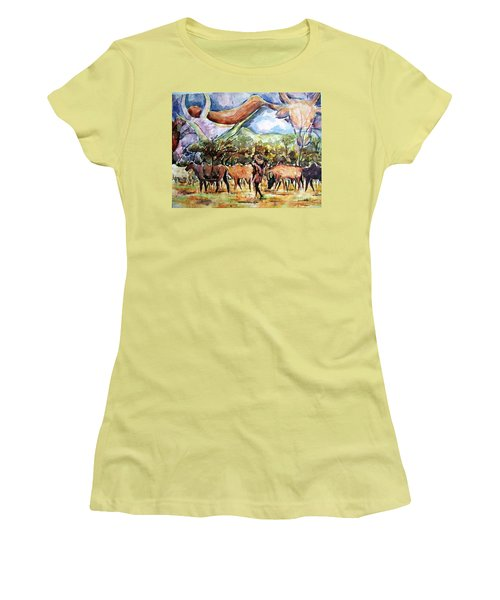 African Herdsmen Women's T-Shirt (Athletic Fit)