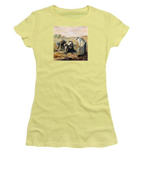 after Jean-Francois Millet  The Gleaners Women's T-Shirt (Junior Cut)