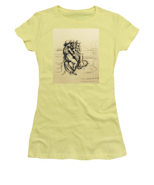 After Leonardo Da Vinci  Women's T-Shirt (Athletic Fit)