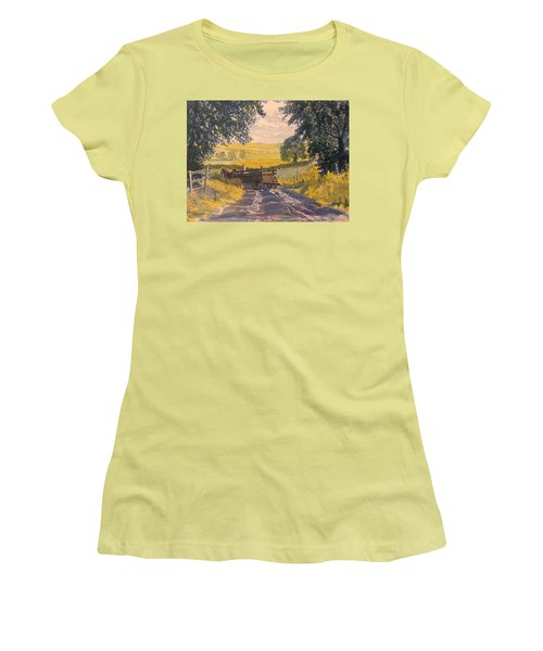 After Rain On The Wolds Way Women's T-Shirt (Athletic Fit)