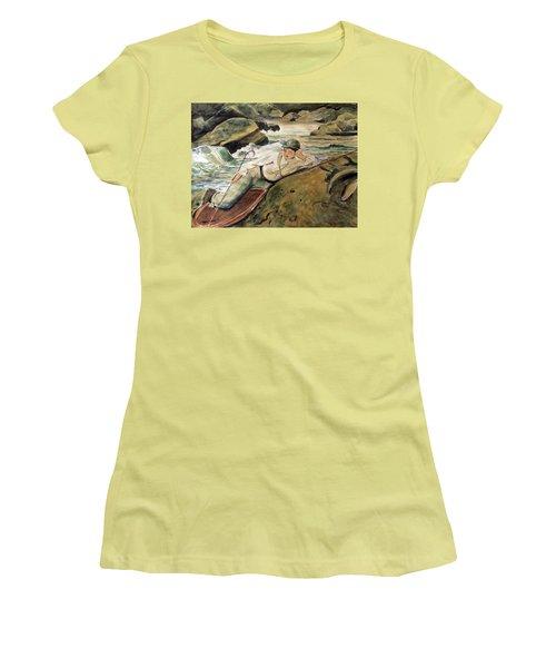 After Sargent Women's T-Shirt (Junior Cut) by Nancy Kane Chapman