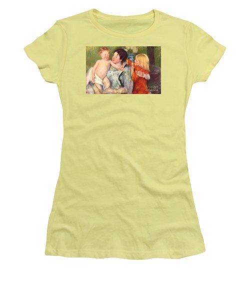 After The Bath Women's T-Shirt (Junior Cut) by Cassatt