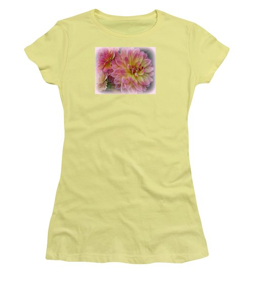 After The Rain - Dahlias Women's T-Shirt (Junior Cut) by Dora Sofia Caputo Photographic Art and Design