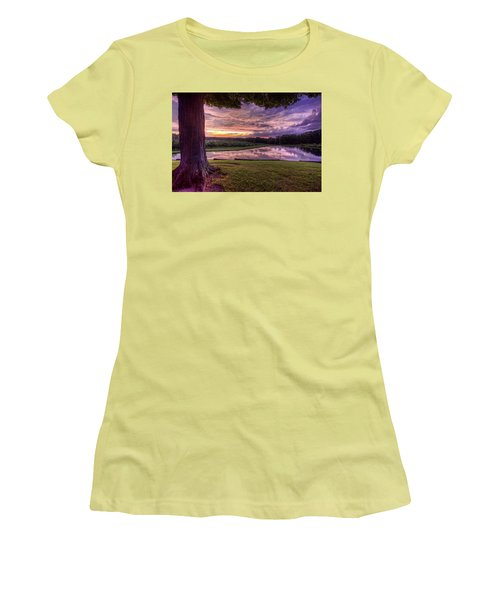 Women's T-Shirt (Junior Cut) featuring the photograph After The Storm At Mapleside Farms by Brent Durken