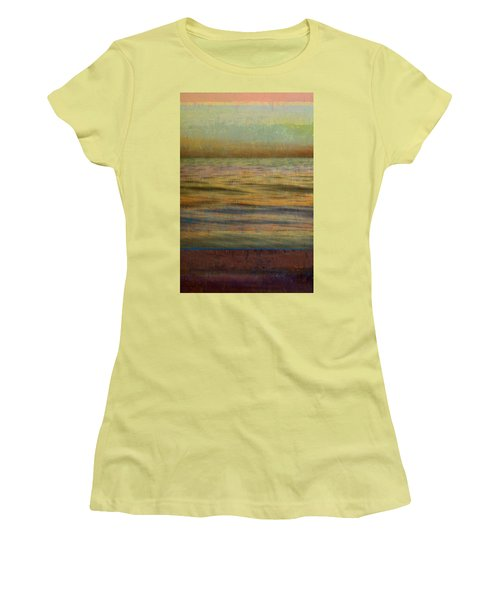 Women's T-Shirt (Athletic Fit) featuring the photograph After The Sunset - Teal Sky by Michelle Calkins