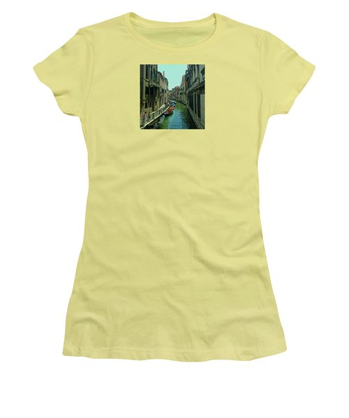 Women's T-Shirt (Athletic Fit) featuring the photograph Afternoon In Venice by Anne Kotan