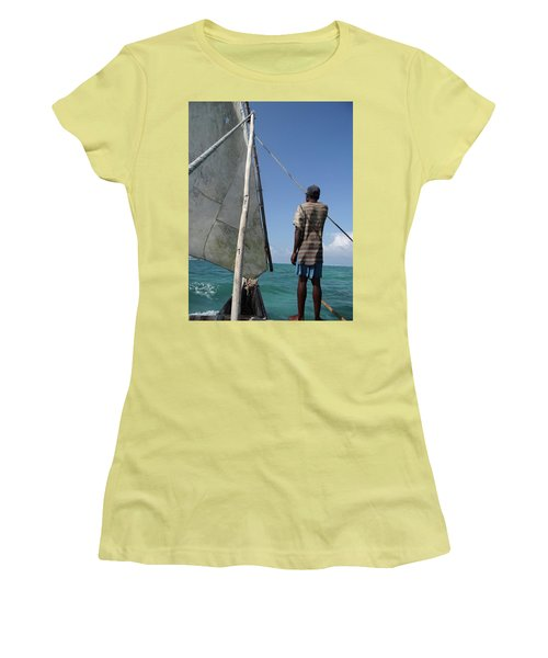 Afternoon Sailing In Africa Women's T-Shirt (Athletic Fit)