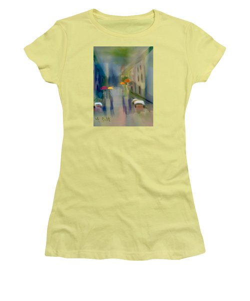 Afternoon Shower In Old San Juan Women's T-Shirt (Athletic Fit)
