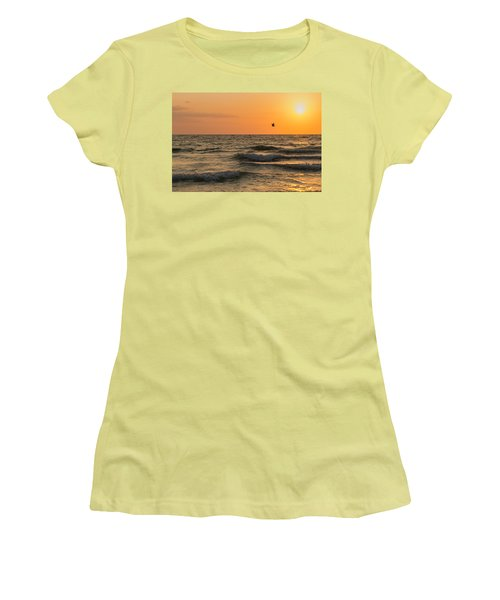 Against The Wind Women's T-Shirt (Junior Cut) by Christopher L Thomley