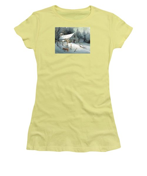 Women's T-Shirt (Junior Cut) featuring the painting Ageless Beauty by Michael Humphries