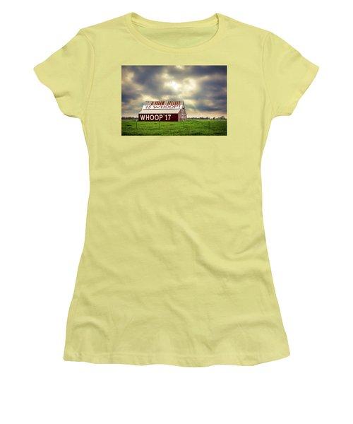 Women's T-Shirt (Junior Cut) featuring the photograph Aggie Barn by David Morefield