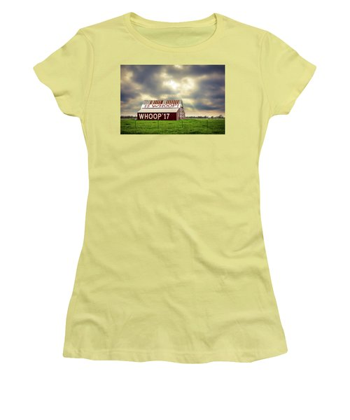 Women's T-Shirt (Athletic Fit) featuring the photograph Aggie Barn by David Morefield