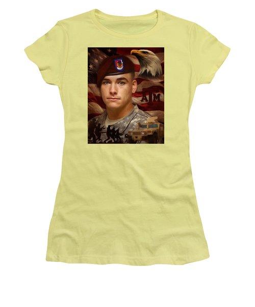 Aggie Hero For Sure Women's T-Shirt (Junior Cut) by Ken Pridgeon