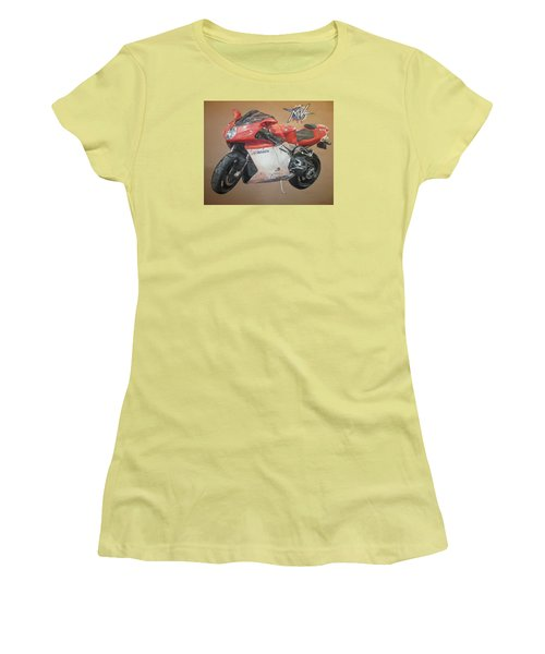 Women's T-Shirt (Junior Cut) featuring the painting Agusta by Cherise Foster