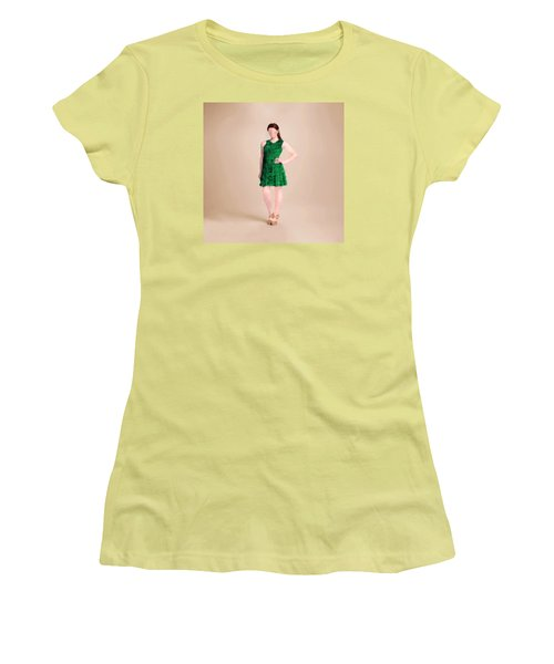 Women's T-Shirt (Athletic Fit) featuring the digital art Ainsley by Nancy Levan