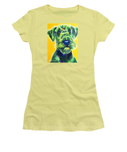 Airedale Terrier - Apple Green Women's T-Shirt (Athletic Fit)