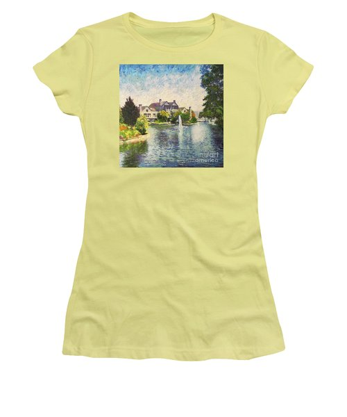 Alameda Marina Village 1 Women's T-Shirt (Junior Cut) by Linda Weinstock