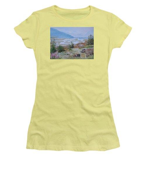 Alaska - Denali 2 Women's T-Shirt (Junior Cut) by Christine Lathrop