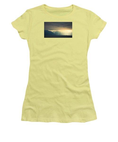 Alaska Inside Passage Under The Clouds Women's T-Shirt (Junior Cut) by Joni Eskridge