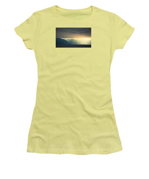 Alaska Inside Passage Under The Clouds Women's T-Shirt (Athletic Fit)