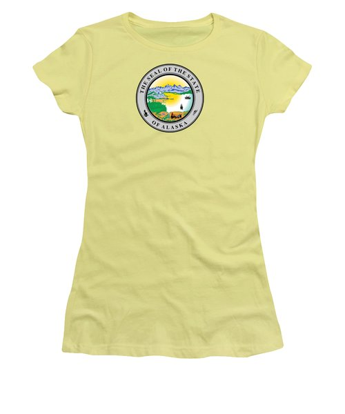 Alaska State Seal Women's T-Shirt (Athletic Fit)