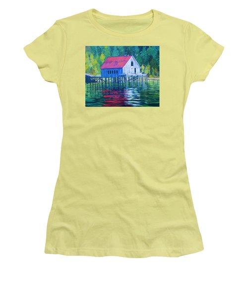 Alaskan Gear Shed Women's T-Shirt (Athletic Fit)