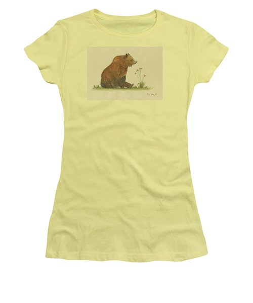 Alaskan Grizzly Bear Women's T-Shirt (Athletic Fit)