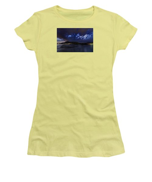 Albenga Alassio Coast Sunset With Clouds... Women's T-Shirt (Athletic Fit)