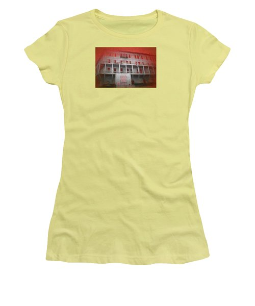 Women's T-Shirt (Junior Cut) featuring the painting Alcatraz Federal Penitentiary by Michael Cleere