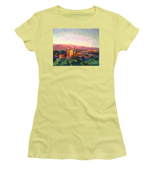 Alhambra, Grenada, Spain Women's T-Shirt (Athletic Fit)